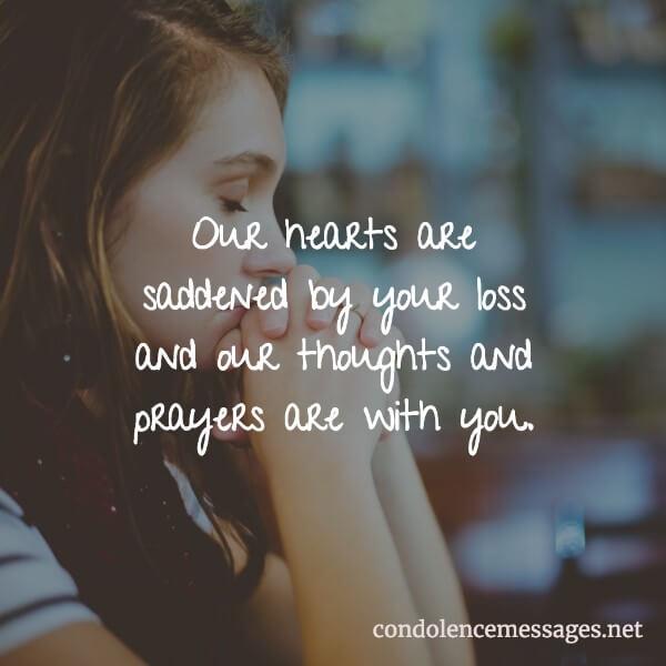 Short Condolence Message → 30 Simple Condolence Card Messages